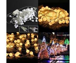 Kerstverlichting 10 meter met LED Ballen