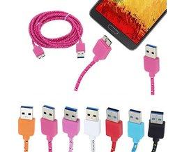 Gevlochten USB Kabel voor S5 en Note 3