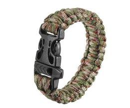 Survival Armband met Gesp