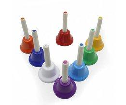 Muziek Speelgoed Set bestaande uit 8 Handbellen