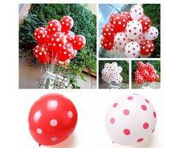 Kleurrijke Latex Ballon met Stippen