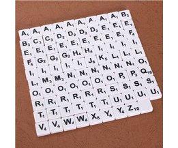 Set van 100 Scrabble Letters