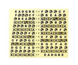 Fretboard Stickerblad voor Gitaar