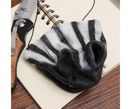 Halve Zebra Masker