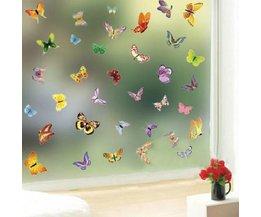 Vlinder Stickers
