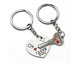 Liefdes Sleutelhangers Hart en Sleutel