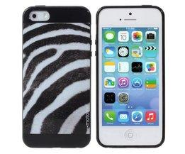 Softcase Voor iPhone 5 & 5S Met Zebraprint