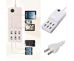 Powerstrip Met 6 USB Ingangen