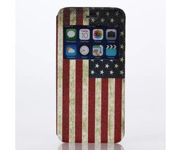 Flipcase Voor iPhone 6 Met Amerikaanse Vlag