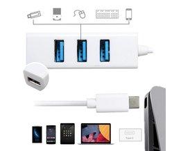Micro USB splitter met 4 Poorten