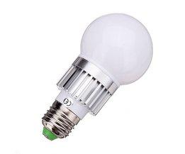 E27 RGB LED Lamp met 3W Vermogen