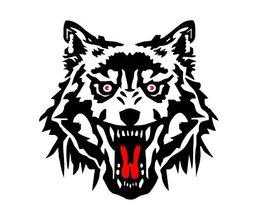 Wolf Stickers voor op Auto