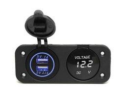 Car Voltmeter en USB Adapter