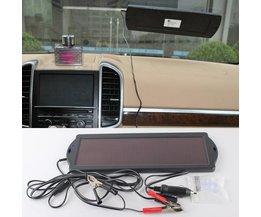 Autobatterij op zonne-energie voor boot of caravan