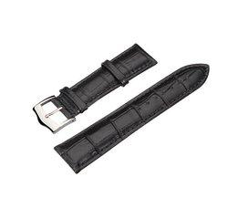 Hoge Kwaliteit Zwarte PU Leren Horlogeband