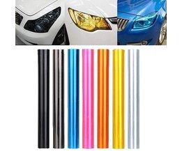 Koplamp Folie voor de Auto in de Kleur Zwart & Roze