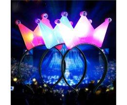 Kroontje met LED Licht voor Feesten
