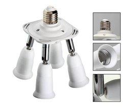 4 Spots Lamp met E27 of E14 Fitting