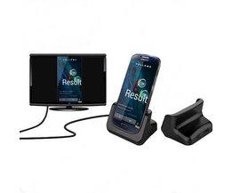 USB Laadstation met HDMI aansluiting geschikt voor Samsung S4