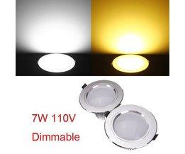 Dimbare LED Inbouwspot Met Driver 7W
