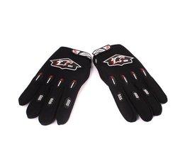 Zwarte Handschoenen Voor De Motor