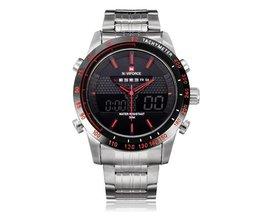 NF9024 Analoog-Digitaal Horloge