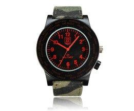 AK Horloge met Canvas Band