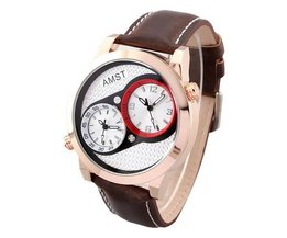 AMST 3012 Dubbel Horloge Voor Heren