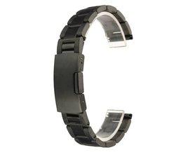 Horlogeband in Zwart