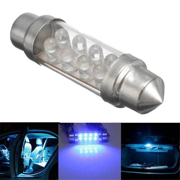 J&S Blauwe Interieurverlichting Auto