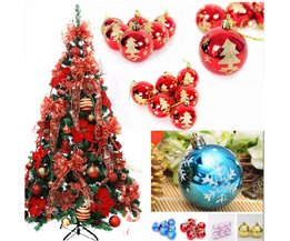 Gouden, Blauwe, Rode of Roze Kerstballen (6 Stuks)