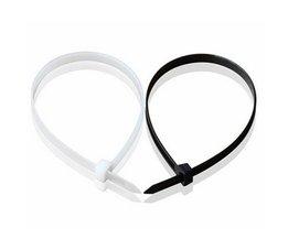Câble En Nylon 100 Pièces 100-450MM En Noir Et Blanc