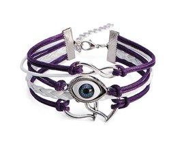 Evil Eye Double Heart Bracelet Punk