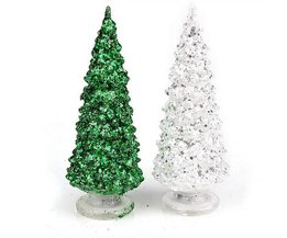 Luminous Arbre De Noël En Vert Ou En Argent