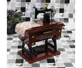 Vintage Mini Machine À Coudre Music Box