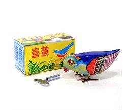 Colorful Vintage Opwindvogel Tin