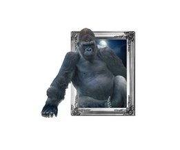 Autocollant Mural Avec Gorilla