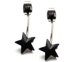 Boucles D'Oreilles Étoiles En Noir Ou Bleu