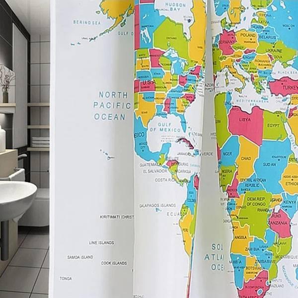 Carte du monde rideau de douche de ligne je myxlshop tip - Rideau de douche carte du monde ...