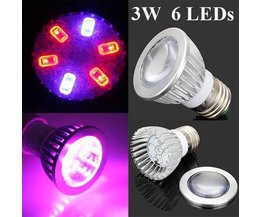 E27 LED Grow Light Pour Les Plantes 3W