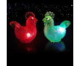 Poulet En Caoutchouc Avec La Lumière LED