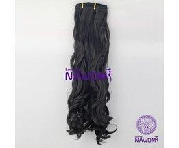 7 Extension NAWOMI Noir Cheveux Ondulés Pieces