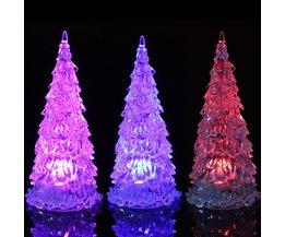 Arbre De Noël Mini Avec Multi-Color LED Lighting