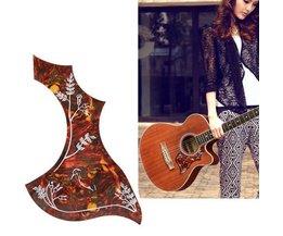 Magnifiquement Décorée Pickguard Pour Guitare Acoustique