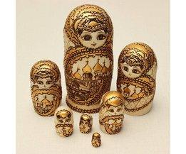 7 Pièces En Bois Matryoshka Doll