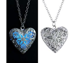 Collier Vintage Luminous With Heart