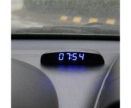 Auto Horloge Numérique Avec Thermomètre Et Voltmètre