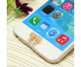 Perle 3D Autocollant Mignon Accueil Bouton Pour IPhone / IPad / IPod