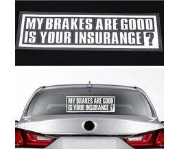 Autocollant Texte Pour Voiture Mes Freins Sont Bons Est Votre Assurance?