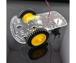 Kit 2 Roues Robot Châssis Pour Arduino